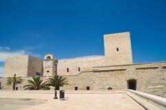 Slott av tranien Puglia italy Royaltyfri Foto