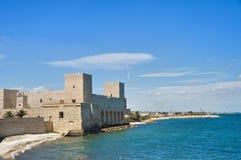 Slott av tranien Puglia italy Arkivbilder