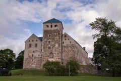 Slott av Turku, Finnland Arkivfoto