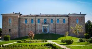 Slott av Voghera, pavese oltrepo Arkivbild