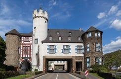 Slott av vonen der Leyen Kobern-Gondorf på Mosellen Royaltyfria Foton