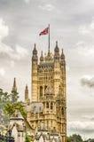 Slott av Westminster, hus av parlamentet, London Arkivbilder