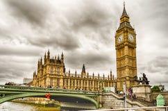 Slott av Westminster, hus av parlamentet, London Arkivfoton