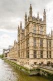 Slott av Westminster, hus av parlamentet, London Fotografering för Bildbyråer