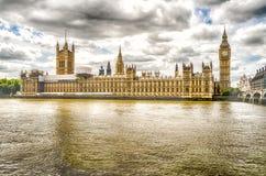 Slott av Westminster, hus av parlamentet, London Royaltyfri Bild