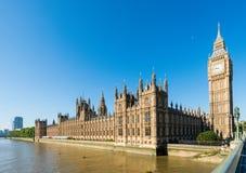 Slott av Westminster, London, Förenade kungariket Royaltyfria Bilder