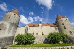 Slott av Yverdon (Schweitz) Royaltyfria Foton