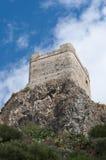 Slott av Zahara de la Toppig bergskedja Royaltyfri Bild