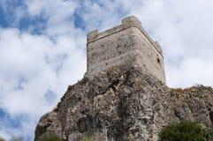 Slott av Zahara de la Toppig bergskedja Royaltyfria Bilder