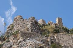 Slott av Zahara de la Toppig bergskedja Fotografering för Bildbyråer