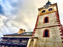 Slott Banska Bystrica Arkivbild