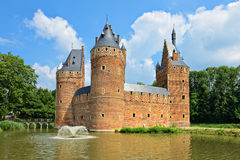 Slott Beersel i Belgien Royaltyfri Fotografi