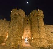 slott berömda greece rhodes Arkivbild
