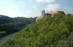 Slott Bitov, tjeckisk republik, Europa Royaltyfria Foton