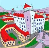 Slott Bratislava vektor illustrationer