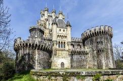 Slott Butron, baskiskt land royaltyfri foto