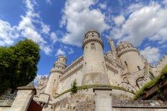 slott chateau de pierrefonds fotografering för bildbyråer