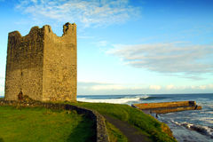 slott co easky ireland sligo Royaltyfri Foto