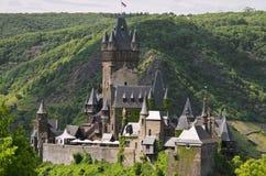 Slott Cochem, Tyskland, moselle dal Arkivfoto