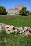 slott craigmillar edinburgh arkivbild