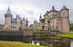 Slott De Haar i Nederländerna Arkivfoto