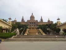 Slott de Montjuic, Barcelona Arkivbild