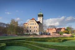 Slott Delitzsch - idyllisk ädelsten Royaltyfri Fotografi