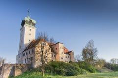 Slott Delitzsch - idyllisk ädelsten Royaltyfria Foton