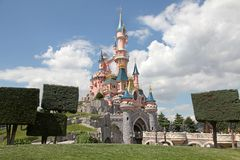 slott disneyland paris royaltyfria foton