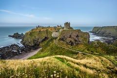 slott dunnottar scotland Arkivbilder