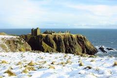 slott dunnottar scotland Arkivfoton