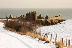 slott dunnottar scotland Royaltyfri Fotografi