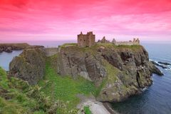 slott dunnottar scotland uk Royaltyfri Foto