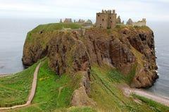 slott dunnottar scotland uk Arkivbild