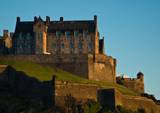 slott edinburgh arkivbild