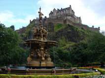 slott edinburgh royaltyfria foton