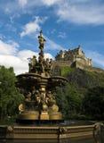 slott edinburgh fotografering för bildbyråer