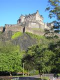 slott edinburgh Royaltyfri Fotografi