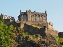 slott edinburgh scotland royaltyfri bild
