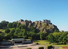 slott edinburgh scotland royaltyfri foto