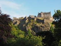 slott edinburgh scotland royaltyfri fotografi