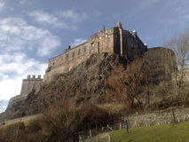 slott edinburgh scotland Royaltyfri Bild