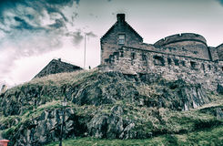 slott edinburgh scotland Arkivfoton