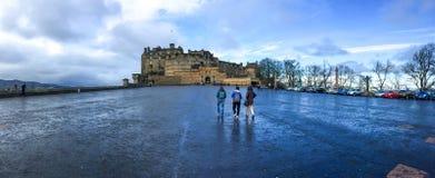 slott edinburgh scotland uk Royaltyfria Foton