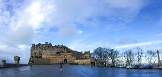 slott edinburgh scotland uk Royaltyfri Bild