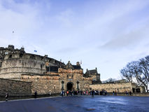 slott edinburgh scotland uk Royaltyfria Bilder
