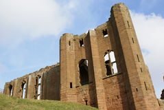 slott elizabethan england trädgårds- kenilworth återställda warwickshire royaltyfri fotografi