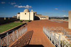 Slott fästning, baia, bacoli, Italien Arkivfoto
