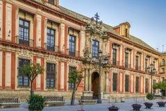 Slott för ärkebiskop` s, Seville arkivbild