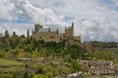 Slott för Alcazarde Segovia royaltyfri bild